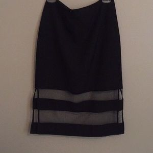 Black Skirt side zip